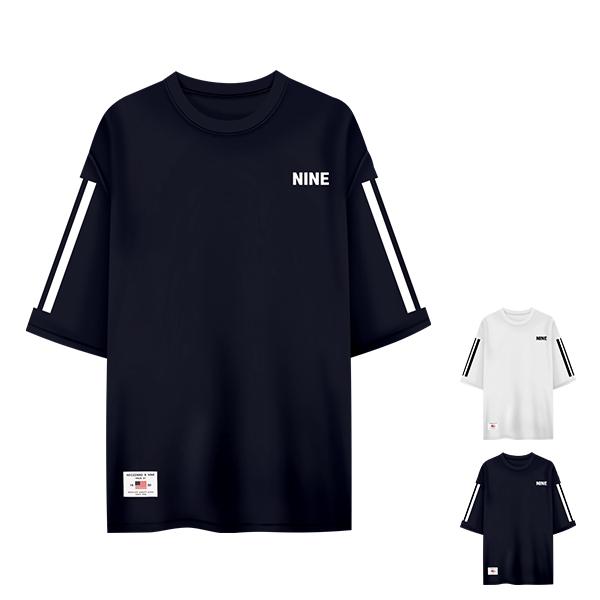 [MD추천] 티짱 나인라인 5부티셔츠