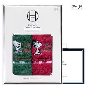 송월 스누피 아폴로 크리스마스 2매선물세트+쇼핑백