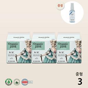 [판매량1위/감사EVENT]유기농 오가닉 제인 순면커버 생리대 3팩set(중형3+미스트증정)