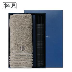 송월 타올우산선물세트(필라라인1+SW 3단 모던체크1)+쇼핑백