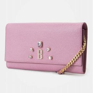 [빈폴]빈티지헐리우드 핑크 체인 장지갑 BE86A4S01X 대표이미지 섬네일