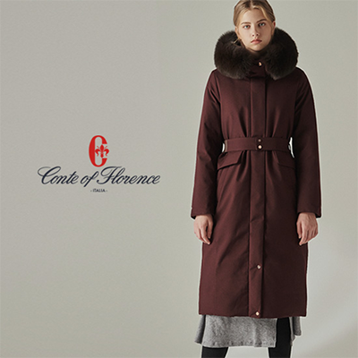 [구스다운 파격세일] 꼰떼 오브 플로렌스 여성 사가퍼 헤비 구스다운 코트