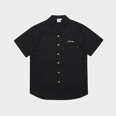 덕스 베이직 오픈 셔츠 블랙