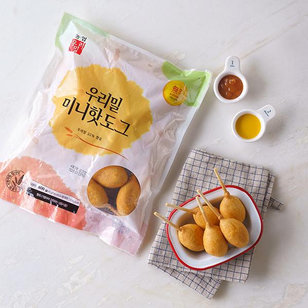 우리밀 미니 핫도그 (600g,냉동) 대표이미지 섬네일