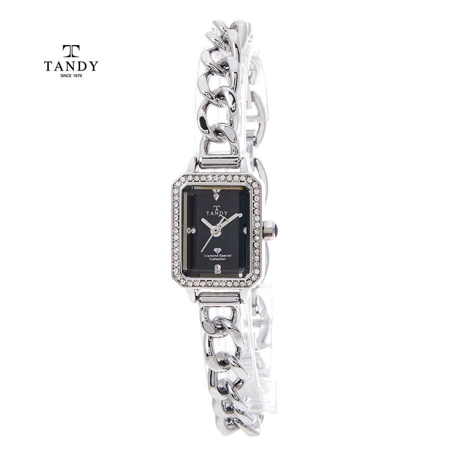[TANDY] 탠디 다이아몬드 원터치 시계 T-4035 BK