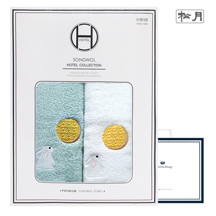 송월 달토끼 2매세트(쇼핑백)