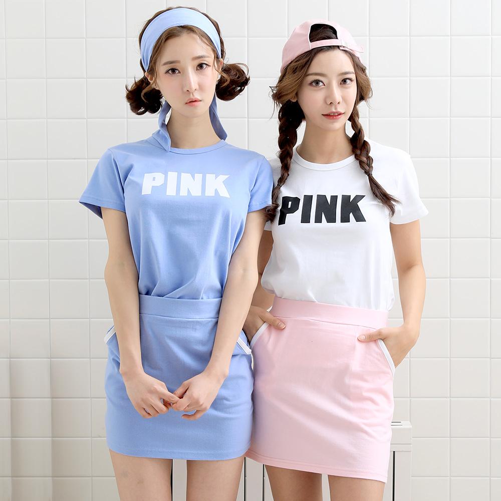 [1+1+1] 티짱 핑크베이스 반팔 티셔츠 3장 (색상랜덤)