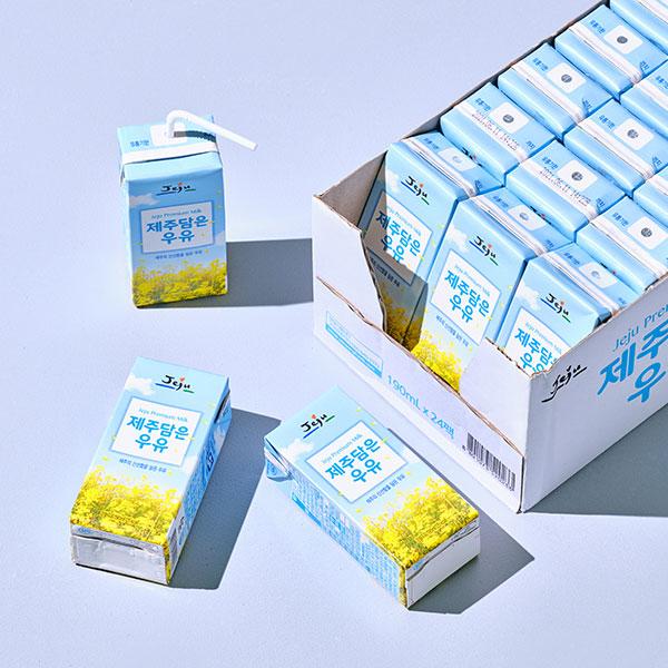 제주담은 우유(190ml x 24입) 대표이미지 섬네일