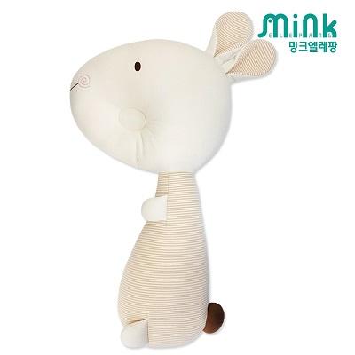 [출산선물] 밍크엘레팡 무형광 토끼 짱구베개 바디필로우