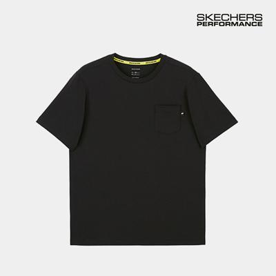 스케쳐스 남자 레터링 티셔츠 블랙