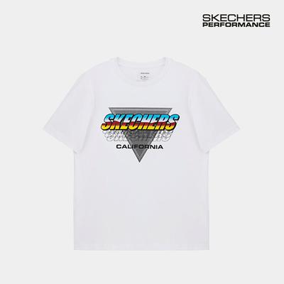 스케쳐스 남자 레터링 티셔츠 화이트