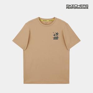 스케쳐스 남자 레터링 티셔츠 베이지