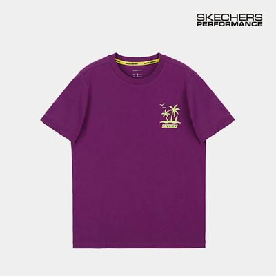 스케쳐스 여자 레터링 티셔츠 퍼플