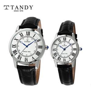 [입점특가][TANDY]  탠디 클래식 가죽 커플 손목시계 T-1714 화이트 대표이미지 섬네일