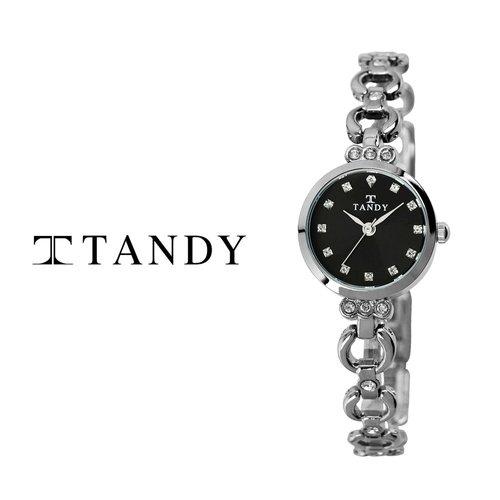 [입점특가][TANDY] 럭셔리 블랙 쥬얼워치(스와로브스키 식입) T-4033 여성