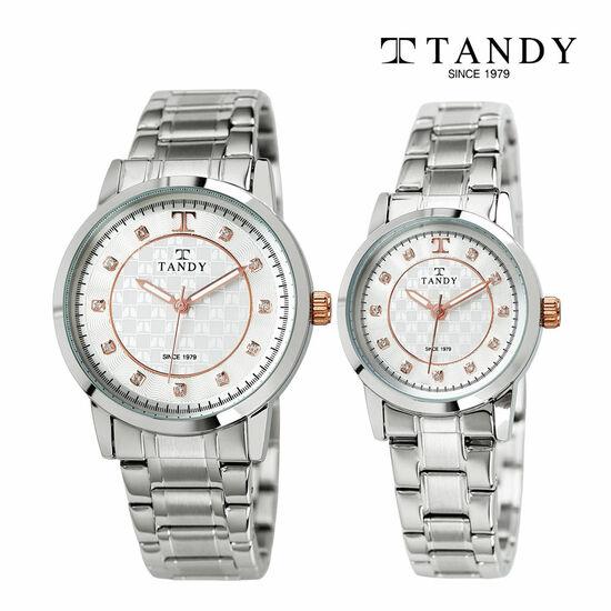 [입점특가][TANDY] 탠디 시그니쳐 럭셔리 커플 메탈 로즈골드 손목시계(스와로브스키 식입) T-3914