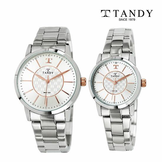 [입점특가/인기][TANDY] 탠디 시그니쳐 럭셔리 커플 메탈 로즈골드 손목시계(스와로브스키 식입) T-3915
