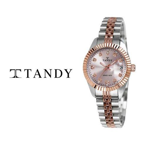 [입점특가][TANDY] 탠디 럭셔리 메탈 로즈골드 손목시계(스와로브스키 식입) T-3909 여성