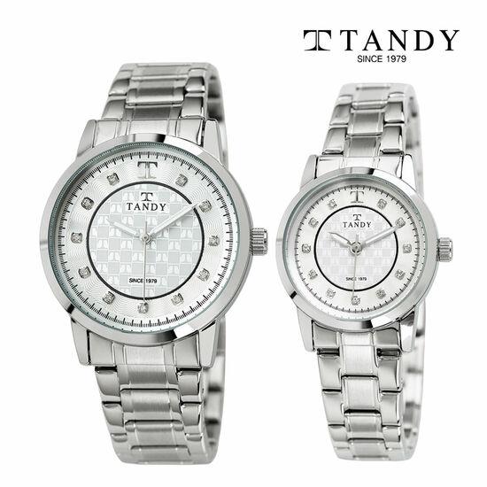 [입점특가][TANDY] 탠디 시그니쳐 럭셔리 커플 메탈 손목시계(스와로브스키 식입) T-3914 실버