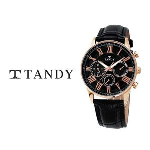 [입점특가/MD추천][TANDY] 탠디 클래식 남성용 멀티펑션 가죽시계 1712 로즈블랙 대표이미지 섬네일