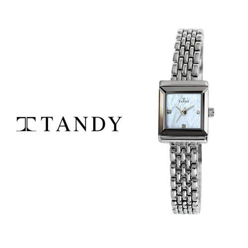 [입점특가][TANDY] 탠디 럭셔리 여성용 쥬얼워치(스와로브스키 식입) T-4023 화이트자개
