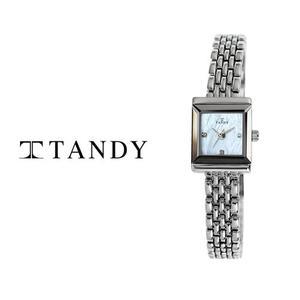 [입점특가][TANDY] 탠디 럭셔리 여성용 쥬얼워치(스와로브스키 식입) T-4023 화이트자개 대표이미지 섬네일
