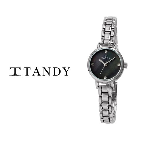 [입점특가][TANDY] 탠디 럭셔리 여성용 쥬얼워치(스와로브스키 식입) T-4022 블랙