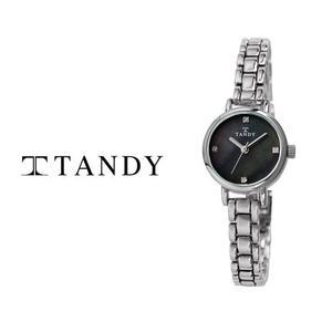 [입점특가][TANDY] 탠디 럭셔리 여성용 쥬얼워치(스와로브스키 식입) T-4022 블랙 대표이미지 섬네일