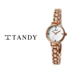[입점특가][TANDY] 탠디 럭셔리 여성용 쥬얼워치(스와로브스키 식입) T-4022 로즈골드 대표이미지 섬네일