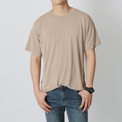 [더로그]소프트 에어 모달 샌드워싱 반팔 티셔츠_logue_hd04
