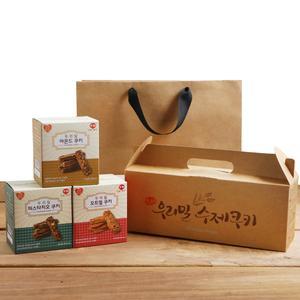 에코맘하우스 우리밀 수제 쿠키 선물 세트 3종 대표이미지 섬네일
