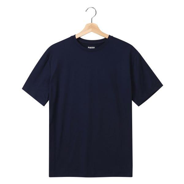 [DEEP] 스판 반팔티셔츠(네이비)