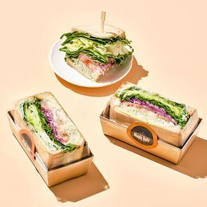 바질페스토 닭가슴살 호밀 샌드위치(하프/150g)