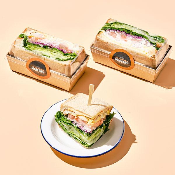 데리야끼 닭가슴살 호밀 샌드위치(하프/160g) 대표이미지 섬네일