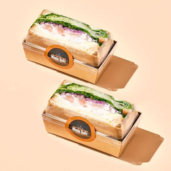 화이트크림 깐쇼새우 호밀 샌드위치(하프/160g) 대표이미지 섬네일