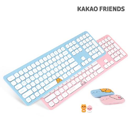 [카카오 피규어 증정] 아이노트 카카오 무선키보드 마우스세트 KFKM-001