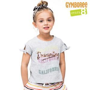 (아동)여아용 어깨매듭 스팽글 블라우스 GTS2419709_GY