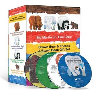 [노부영] 에릭칼 Bear 보드북 4종 세트 (Board Book & CD Set) 대표이미지 섬네일