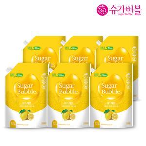 슈가버블 친환경 1종 리치 레몬 주방세제  1,200mL X 6개
