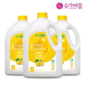 슈가버블 친환경 1종 리치 레몬 주방세제  2.5L X 3개