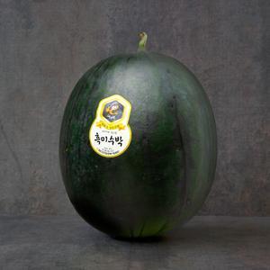 [올해첫출시] 흑미수박 1통 (6kg내외)