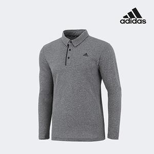 아디다스 골프 남성 폴로 카라 쓰리버튼 티셔츠 그레이 FZ8465