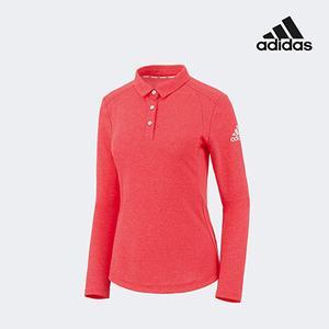 아디다스 골프 여성 폴로 카라 쓰리버튼 티셔츠 핑크 FZ8468
