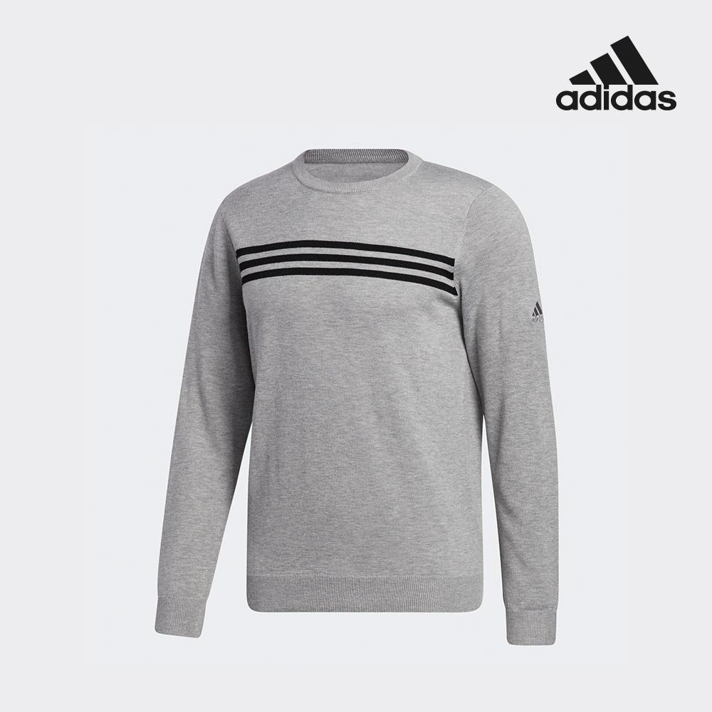 아디다스 골프 남성 골프 크루 넥 스웨터 그레이 FS6903