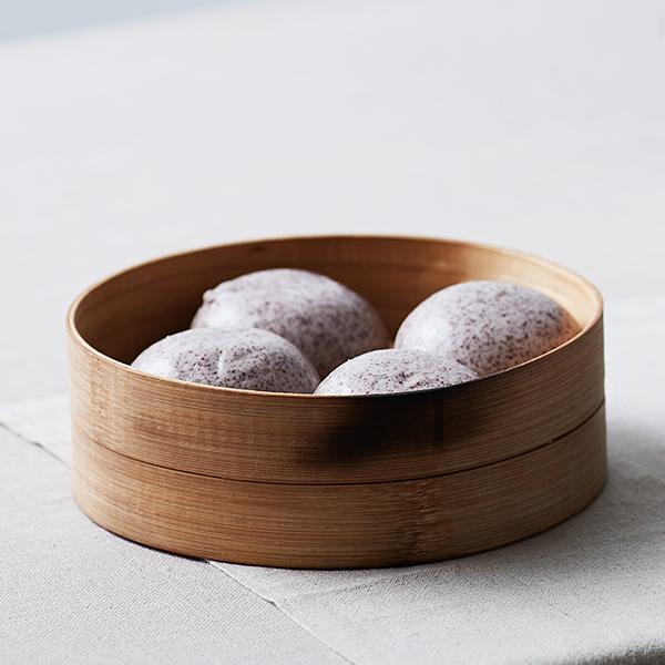 우리밀 흑미 찐빵 (10입/500g) 대표이미지 섬네일
