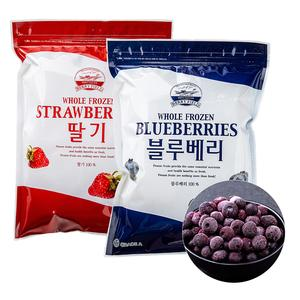 [푸드인더홈] 칠레산 냉동 블루베리 1kg +국내산 냉동 딸기1kg 대표이미지 섬네일