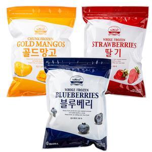 [푸드인더홈] 냉동 칠레산 블루베리 1kg + 국내산 딸기1kg + 골드망고(다이스) 1kg 대표이미지 섬네일