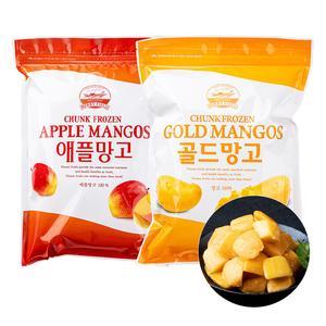 [푸드인더홈] 냉동 골드망고(다이스) 1kg + 냉동 애플망고1kg 대표이미지 섬네일