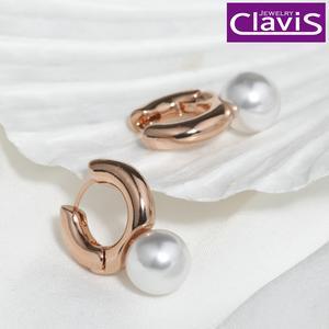 Clavis [클라비스] 14k 볼드 펄 원터치 귀걸이 CL14kp EGP198