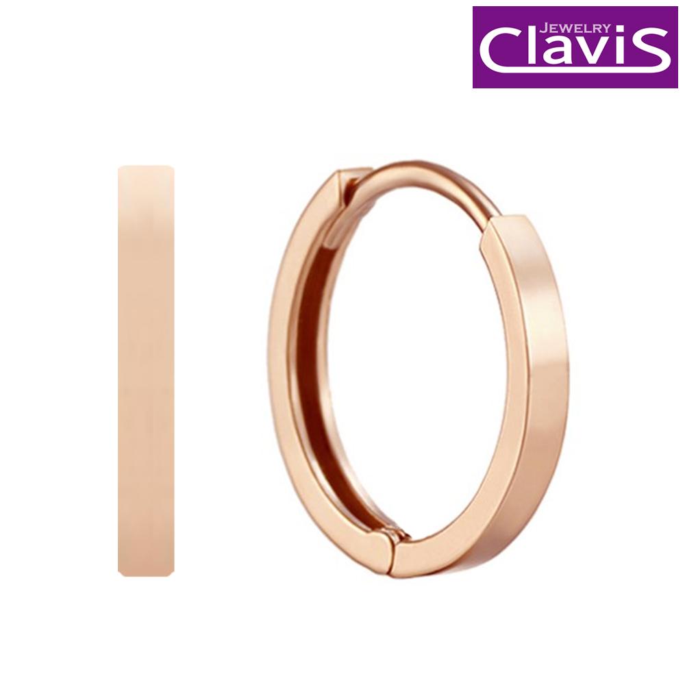 Clavis [클라비스] 14k 모던 데일리링 원터치 귀걸이 CL14kp EGP205